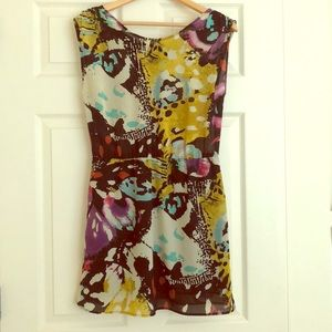 Multi-color sleeveless dress
